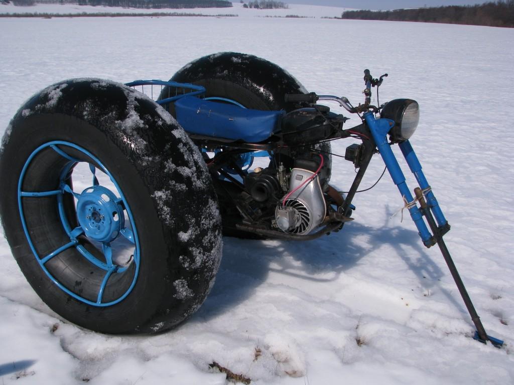 Вездеход-снегоход из мотоблока своими руками 56